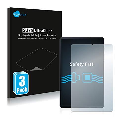 Savvies 3X Schutzfolie kompatibel mit Samsung Galaxy Tab S6 Lite WiFi 2020 Displayschutz-Folie Ultra-transparent