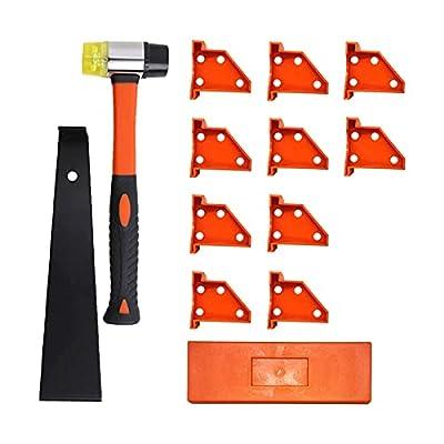 EKDJKK Laminate Wood Flooring Installation Kit with 10 Spacers, Tapping Block, Heavy Duty Pull Bar, Rubber Hammer