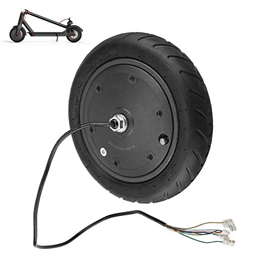 Accesorios para Scooter eléctrico, Motor silencioso de CC sin escobillas de 250-350 W 36 V, neumáticos inflables Antideslizantes, adecuados para el reemplazo del Motor de accionamiento de Scooter, se