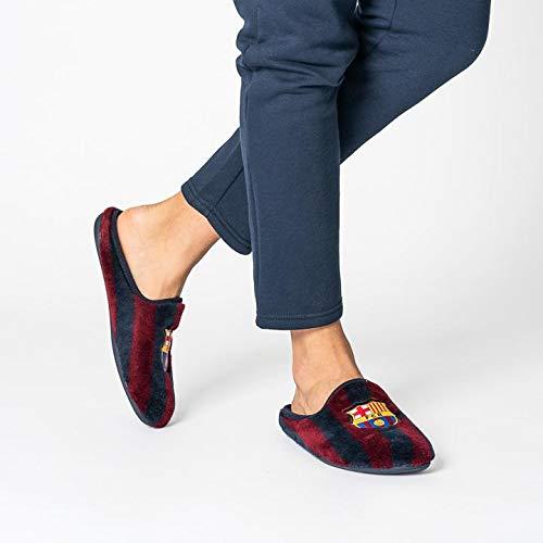 Zapatillas Oficiales FC Barcelona Clásicas Zapatillas de Estar por casa Hombre Invierno Otoño - 28 EU