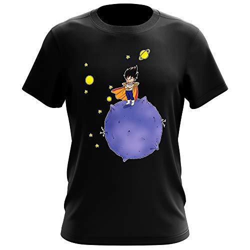Dragon Ball Z -DBZ Lustiges Schwarz T-Shirt - Vegeta Della planeta Vegeta (Dragon Ball Z -DBZ Parodie) (Ref:660)