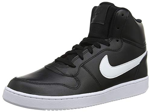 Nike Herren Ebernon Mid Sneakers, Schwarz (Black/White 002), 43 EU