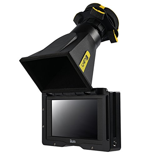 Ikan 5-inch 4K Support HDMI EVF Monitor Kit with Canon E6 Battery Plate, Includes Cage and Viewfinder (EVF50-KIT) - Black
