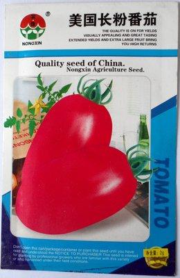 Graines de fruits et de légumes aux États-Unis longue Rose Graines de tomate Peut être en pot 2 G Couleur de l'emballage