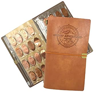 The Penny Journal by Pennybandz Holds 146 Coins The Ultimate Souvenir Penny Collecting Book for Your Coin Collection Holds 128 Pressed Pennies and 18 Pressed Quarters or Nickels