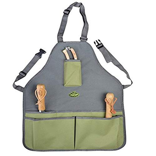 Fallen Fruits Garden Tool Apron - Green/Grey