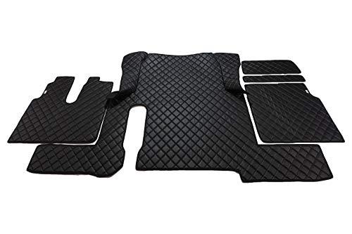 MAN TGX 2018-2020 1 tiroir automatique grande version, tapis de sol pour camion, tapis intérieur TRUCK en cuir écologique, accessoires de sol en cuir synthétique, couleur du produit : noir