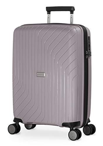 HAUPTSTADTKOFFER- TXL - leichtes Handgepäck, Kabinengepäck Hartschalen-Trolley aus robustem Polypropylen, Kabinentrolley 55 cm, 36 L, TSA-Schloss, Vintage Silber