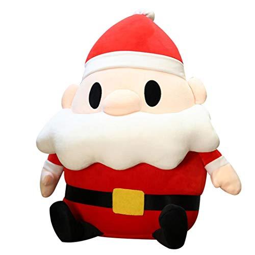 Hunpta @ Süße Weihnachtspuppe Plüschtiere, 35cm Karikatur Santa Stofftier Plüsch Spielzeug Kuscheltier Puppe Home Deko Kissen Plüschtier Geburtstag Weihnachten Geschenk für Kinder Mädchen Junge (A)