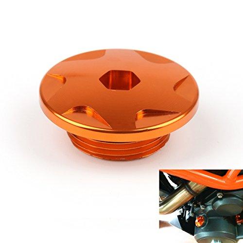 Areyourshop CNC-Motorgehäuse, Schrauben, Steckbolzen, für Duke 125/200/390, Orange
