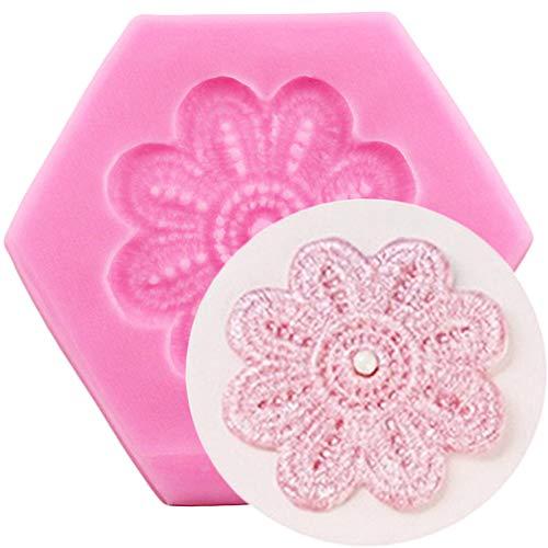 UNIYA DIY Cupcake Topper Fondant Molde Flor Hoja Moldes de Silicona Herramientas de decoración de Pasteles Clay CandyMoldes deChocolate