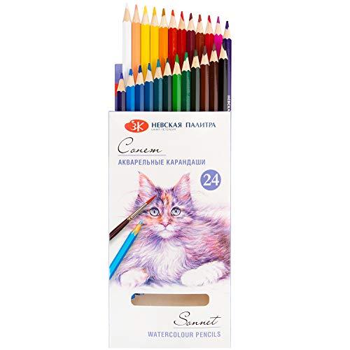 Sonnet 24 Watercolour Pencils, Water-Soluble, Watercolour Pencils, Watercolour Pencils, Watercolour Pencils, Watercolour Pencils.