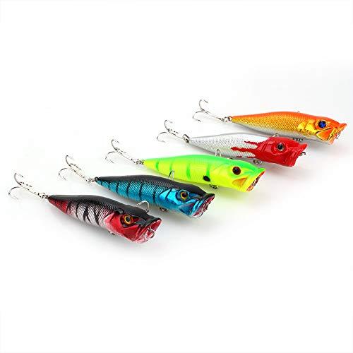 5 UNIDS Kit de Señuelos de Pesca Lotes de Aparejos de Pesca Completos Que Incluyen el...