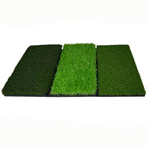 Golf Mat Multi-Funzione Swing Mat Tre-in-One Mat Mat Portable (Color : Green)