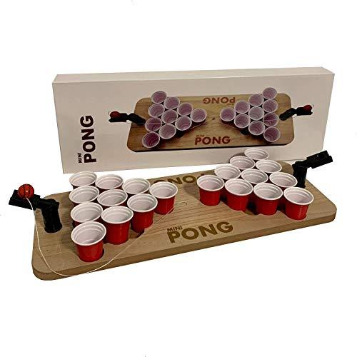 trooplex Shot Pong: Ideale Erweiterung für Bier Pong Liebhaber! Mini Beer Pong ideal für Partys Festivals als Geschenk oder zum Vorglühen Trinkspiel Set für Kurze inklusive 20 Becher redcups