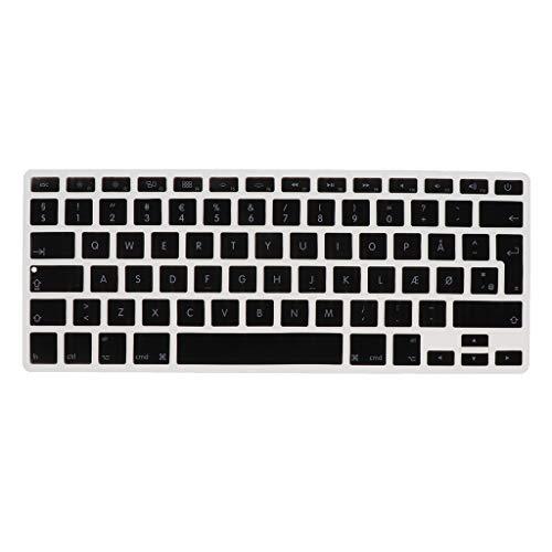 Shiwaki Dänische Phonetische Tastatur Schutzhülle, Kabellose Tastatur Schutzhülle Für 13,3 Zoll 15pro MacBook - schwarz