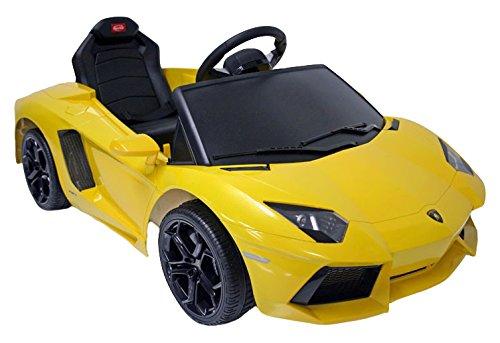 Lamborghini–Auto Aventador Elettrico 6V con Telecomando e simulatore di avviamento per Bambini a Partire da 3Anni con luci Anteriori LED e Presa MP3, Bandella multimec 4001
