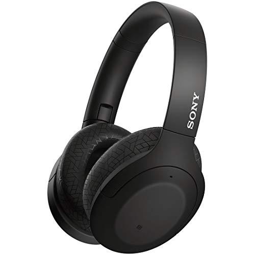 ソニー ワイヤレスノイズキャンセリングヘッドホン WH-H910N : ハイレゾ対応 / Amazon Alexa搭載 / bluetooth / 最大35時間連続再生 / ハイレゾ相当アップスケーリング対応 小型・軽量 タッチセンサー搭載 キャリングポーチ付属 2019年モデル / マイク付き/ 360 Reality Audio認定モデル ブラック WH-H910N BM