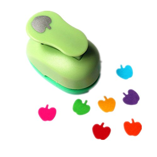 ODETOJOY Handheld Scrapbooking Punch Cutters Clearance Engraving Album Cards Paper Crafts Puncher Hole Punches Supplies with Shape (Apple)