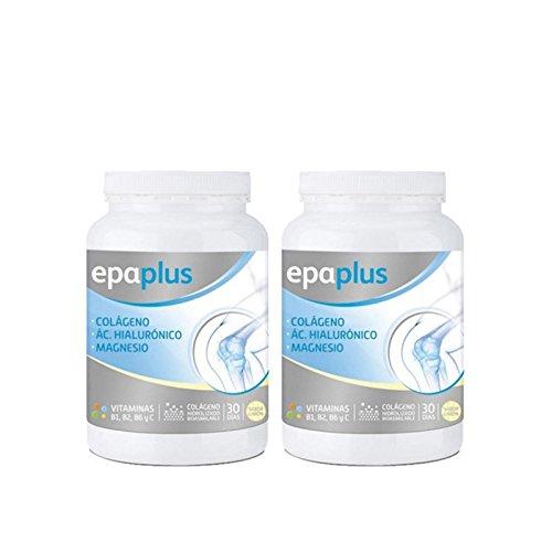 Epaplus Articulaciones  Colágeno + Ácido Hialurónico + Magnesio Duplo-2x30 Días (2x332 gramos, sabor vainilla)