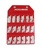 Accusize Industrial Tools 18 Pc Angle Gauge Set, Eg02-5050