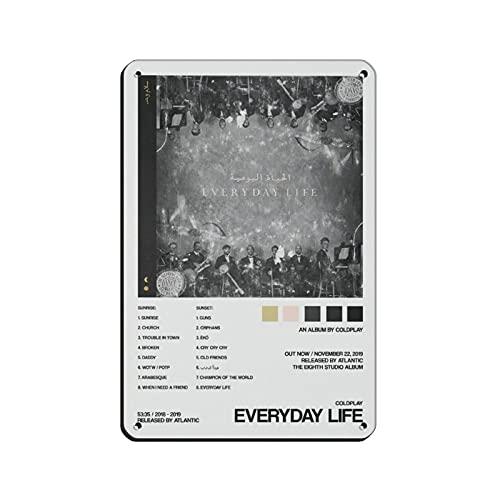 Coldplay Everyday Life Leinwand-Poster, Wandkunst, Deko, Bild, Gemälde für Wohnzimmer, Schlafzimmer, Dekoration, Weiß, 20 x 30 cm