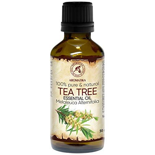 Ätherisches Teebaumöl 50ml - Australien - 100% Reine - Guten für Beauty - Baden -Körperpflege - Wellness - Schönheit - Entspannung - Massage - Duft Diffuser - Duftlampe - Raumduft - von Aromatika