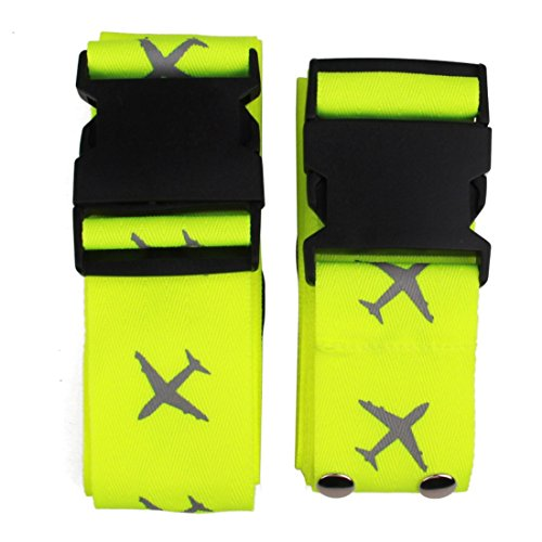 Luggage Strap Suitcase Belts Travel Accessories 2-Pack-Green