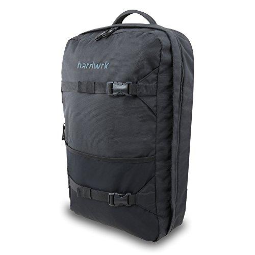 hardwrk Backpack Pro - Business Office Rucksack in neutralem Design - schwarz - Deuter Airstripes-Rückensystem - Extra Fach Tasche kompatibel mit Apple iPad MacBook Laptop Notebook