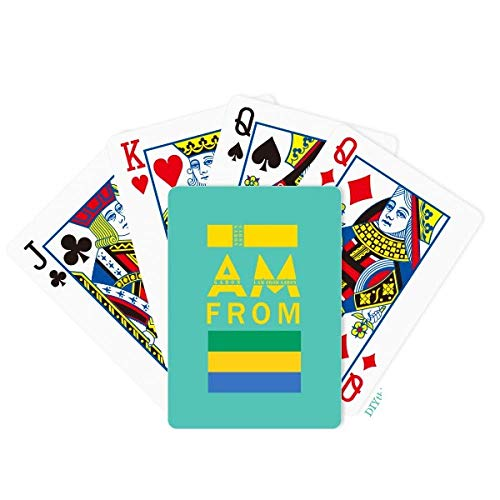 OFFbb-USA I Am from Gabon Poker Jugando Cartas Juego de Mesa
