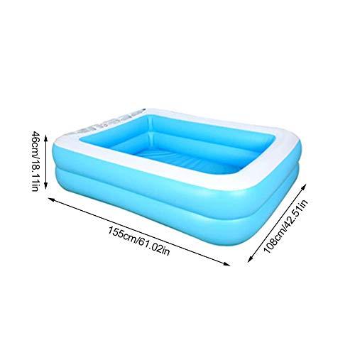 rosemaryrose Planschbecken Planschbecken Baby Bällebad Eckig Baby-Aufblasbarer Kinderpool Haushaltsbaby Baby-Wear-Resistant Dick Marine Ball Pool