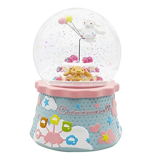 MENGGE Bola de Cristal Caja de música de la fantasía de Giro, Perro de Grandes Orejas Cajas de música, for los Regalos de cumpleaños/Navidad los niños y niñas de los niños Regalo significativo