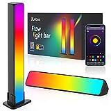 Kuubee Smart Luces LED, 2 Barras de Luz RGB Inteligente con 16 Millones de Colores 256 Modos de Escena y 8 Modos de Música con Control App, Lámpara Ambiental para Decoración, Gaming, Fiesta, PC, TV