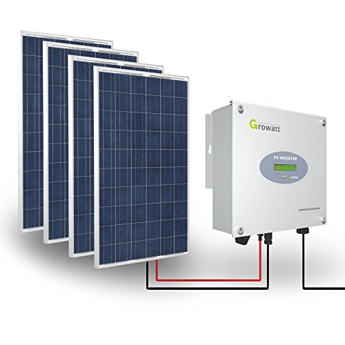 Growatt Solar Set PV 1000W Inverter Wechselrichter WiFi 1-phasig Display