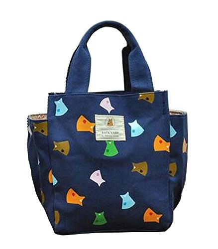 [Kleid] Canvas Lunch Bag Bento Tasche Einkaufstasche Picknick-Tasche