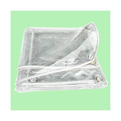 Glass Clear Tarpaulin Plant Covers Glass Clear Tarpaulin Waterproof Heavy Duty Rainproof Cold Protection Heat Insulation Insulation Plastic Cloth Home Use Transparent PVC Thick Oilcloth