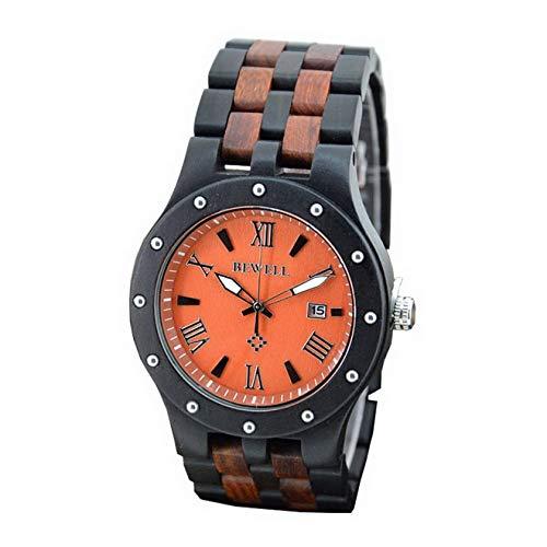 Relojes Únicos Hombres Vintage Retro Fecha Natural Color Mezclado Reloj de Madera Reloj de Pulsera Deportivo con Luminoso, Relojes p