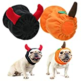 Halloween Costumes for Dogs - Small Dog Costume Funny Party Suit Accessproes Outfits, Demon Style & Pumpkin Style Festival Clothes for Small Dogs Puppy Cats