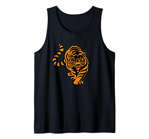 Tiger On the ProwI I Love Orange Tigers Big Cat Animal Print Tank Top