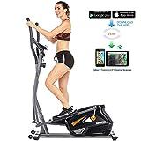 ANCHEER Cyclette Ellittica Fitness con 10 Livelli di Resistenza/App/Supporto per Tablet/Frequenza Cardiaca, Attrezzi Cardio Ginnici per Lo Sport di Fitness Domestico