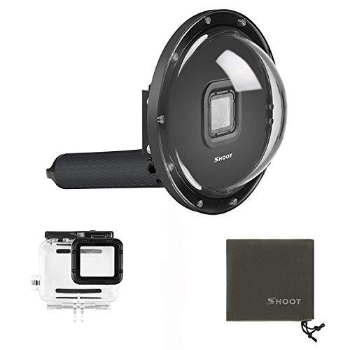 Puerto de cúpula impermeable de 15,2 cm para GoPro Hero 7 6 5 Black Hero (2018) con carcasa carcasa Go Pro Dome Lens
