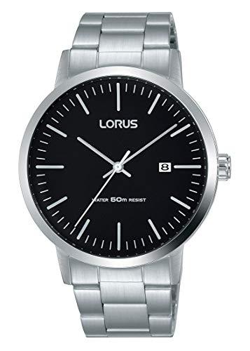 Lorus Klassik Herren-Uhr Edelstahl mit Metallband RH989JX9