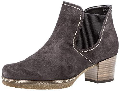 Gabor Damen Chelsea Boots 96.661,Frauen Stiefel,Halbstiefel,Stiefelette,Bootie,Schlupfstiefel,hoch,Blockabsatz 3.5cm,Einlegesohle,G Weite (Normal),Dark-gr(S.n/AMA/Mi),UK 9