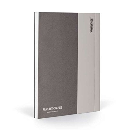 FANTASTICPAPER 4630455 Color 34 Notizbuch XL Blanko, Stone & Warm Grey 192 Seiten