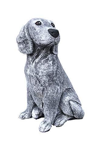 Steinfigur Hund Beagle, Frost- und wetterfest, massiver Steinguss