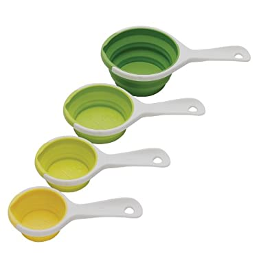 Chef'n SleekStor Pinch+Pour Collapsible Measuring Cups (Green Tonal)