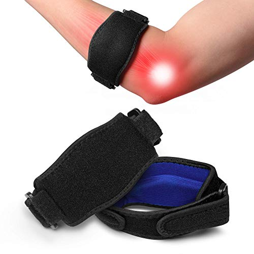 Tennis Elbow Brace with Compression Pad 2 Pack, Future Way Elbow Strap, Golfers Elbow Band Support for Tendonitis Pain, Tennis Elbow, Golfers Elbow, Arthritis, Suitable for Women and Men - Black