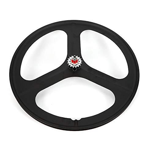 TBVECHI 700c 3-Spoke Single Speed Fixie Bicycle Wheel Fixed Gear Bike Black Rear Wheel Tri Spoke Track Wheel Clincher Black Wheel