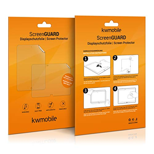 kwmobile 2X Folie kompatibel mit Samsung Galaxy Tab S7 - Full Screen Tablet Schutzfolie entspiegelt
