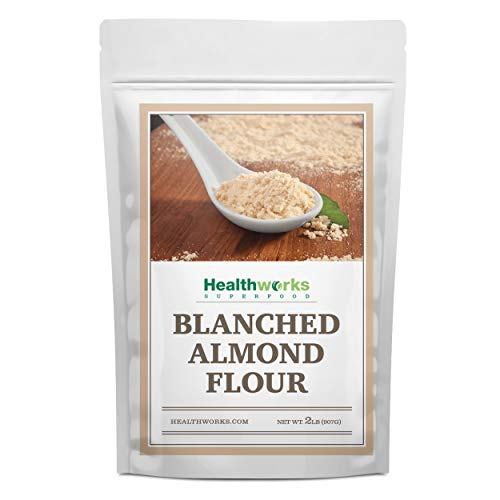 Healthworks Blanched Almond Flour (32 Ounces / 2 Pounds) | Super Fine Powder | All Natural, Grain Free, Keto, Vegan & Paleo | Healthy Flower Substitute | Low/Zero Carb | Premium Superfood